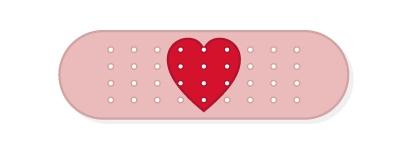 heart bandaid