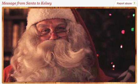 portable north pole santa video