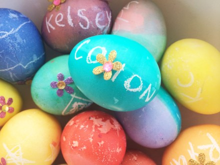 Easter eggs with kids